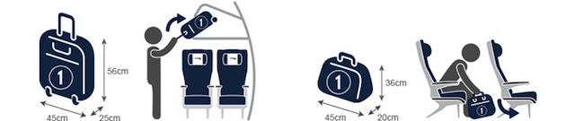 Что разрешается брать в самолет, размер сумок